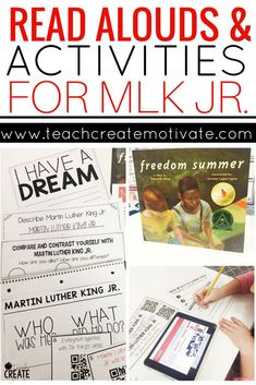 This read aloud and classroom activities are the perfect way to discuss MLK Jr. with your students. Mlk Jr Day, Reading Motivation, 3rd Grade Reading, Guided Reading, Teaching Reading, Thing 1, King Jr, Classroom Activities, Holiday Activities