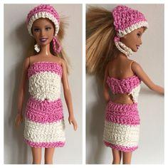 Vestidinhos de crochê Barbie #crochetandosonhos