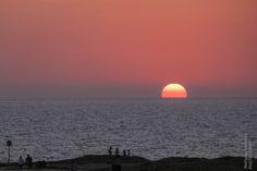 Sonnenuntergang im Archäologischen Park Paphos