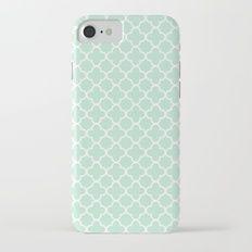 Mint Quatrefoil Clover iPhone 7 Slim Case