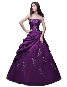 yorformals Women's Sweetheart Embroidered Taffeta Prom Dress > Trust me, this is great! Click the image. : quinceanera dresses