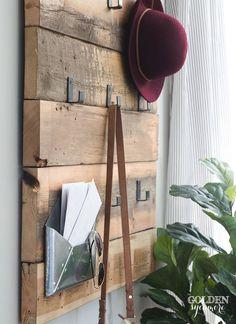 rustic modern DIY coat rack