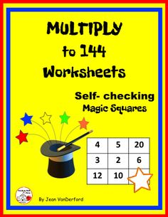 BACK to SCHOOL - Multiply to 144 - Self-checking  Great editable classroom materials @teachersherpa