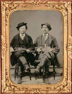 ca.1865, [tintype portrait of two fiddlers]