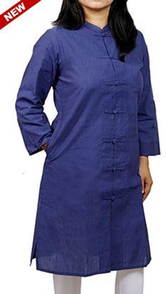 Corporate Kurtas for Office Women. But online at www.indianconceptsonline.com. Crisp Cotton Mangalgiri Kurtas
