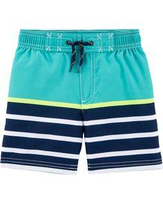9d7bba4c1c Baby Boy Carter's Striped Swim Trunks | Carters.com Baby Boy Swimwear, Baby  Swimsuit