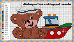 Dinha Ponto Cruz: Ursinho em ponto cruz