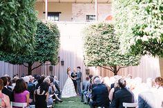 courtyard ceremony | Haley Sheffield #wedding