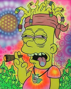 Rollin' up 1000 jays for my 🐥🎉🌿🔥💨💨💨💫🚀🌌👽⬆👌💣 Weed Wallpaper, Simpson Wallpaper Iphone, Wallpaper Iphone Cute, Cartoon Wallpaper, Trippy Cartoon, Dope Cartoon Art, Trippy Alien, Art Hippie, Psychedelic Art