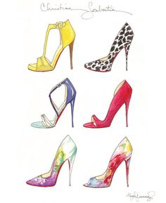 Christian Louboutin 2014 Sextet Fashion Illustration by StephanieJimenez on Etsy https://www.etsy.com/listing/191034790/christian-louboutin-2014-sextet-fashion