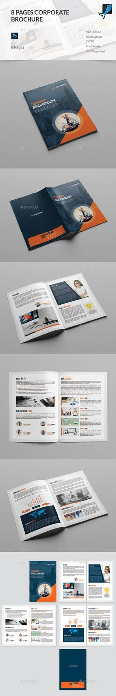 Corporate Business Bifold Brochure Template Psd Download Here Http