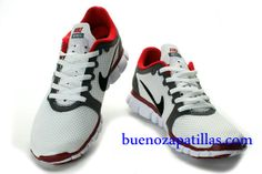 Hombre Nike Free 3.0 V2 Zapatillas (color : empeine y suela - blanco; logotipo - negro , en el interior - rojo)