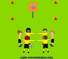 Coordination - Octopus Race - Kids Soccer - Soccer drills for kids from U5 to U10 - Soccer coaching with fantasy