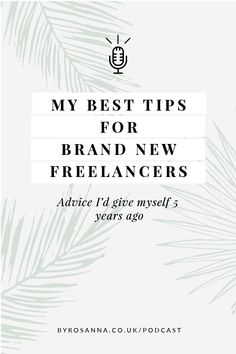 My best tips for new freelancers (advice I'd go back and give myself when I started my own busness) #freelancetips #freelancingtips #tipsfornewfreelancers Creative Business, Business Tips, Online Business, Business Coaching, Social Media Influencer, Business Entrepreneur, Online Work, Content Marketing, Branding Design