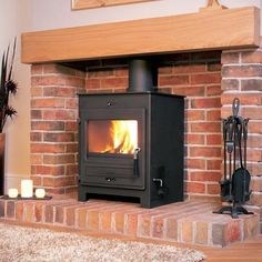 Large wood burning stoves from to output power. Our wide range of large wood burning stoves are prefect for heating the larger sized room Boiler Stoves, Multi Fuel Stove, Cast Iron Fireplace, Electric Fires, Log Burner, Central Heating, Exposed Brick, Wood Burning, Fireplaces