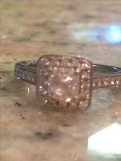 Cushion cut with halo diamond engagement ring
