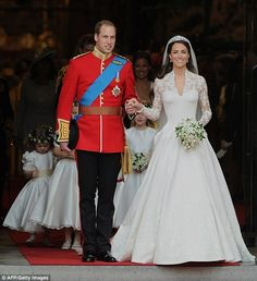 Perfect couple: Kate became the Duchess of Cambridge when she wed Prince William at Westminster Abbey in 2011