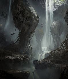 Sunken Hollow, Titus Lunter on ArtStation at https://www.artstation.com/artwork/RKGov