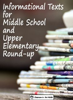 Informational texts round up Esl Lessons, Reading Lessons, Teaching Reading, Guided Reading, Teaching Ideas, Informational Texts, Nonfiction, Being Used Quotes, Middle School Classroom