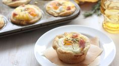 This genius recipe is an entire hot breakfast, all ready-to-go in one tasty muffin cup. Eggs, ham and cheese team up in this ultimate morning energy booster.