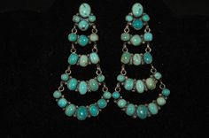Navajo Sterling Silver & Turquoise Earrings by navajodreams