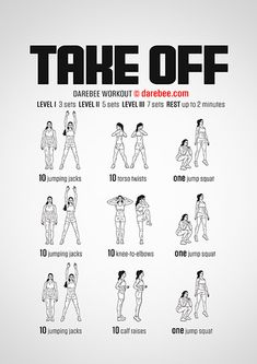Take Off is a total body cardiovascular and aerobic fitness workout you can do at home. Darbee Workout, Full Body Workout Routine, Aerobics Workout, Workout Plans, Boxing Cardio Workout, Month Workout, Workout Ideas, Easy Workouts, At Home Workouts