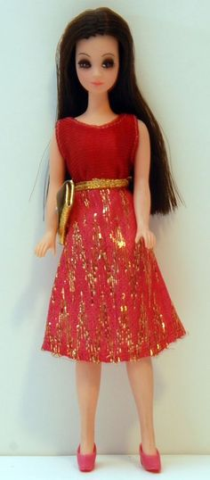 Topper Dawn Doll - Angie P10 with Side Part Hair HTF Clone Dress! Lot B7 #DollswithClothingAccessories