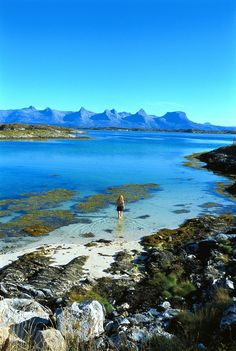 Helgeland, Norway with Seven Sisters in distance