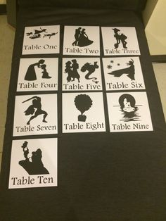 Disney Themed Wedding or Shower Table Numbers / by PapersByTree
