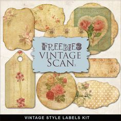 Far Far Hill: New Freebies Vintage Style Labels