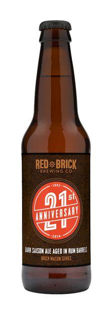 Red Brick 21st Anniversary Dark Saison Ale - One Time Release in Oct 2014
