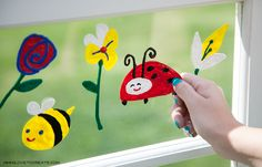 Spring Puffy Paint Window Clings   iLoveToCreate