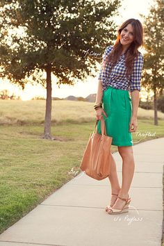 Another great take on gingham via Kendi Everyday