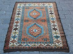 Antique kazak design Kars Carpet Rugs,area rug,Brown color Rugs,wool carpets,rug #Turkish