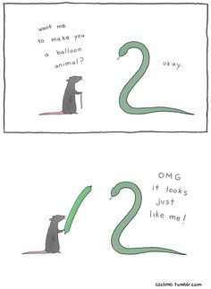 Animal encounters guaranteed to cheer you up. By Liz Climo - Imgur