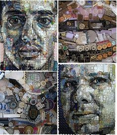 Zac Freeman's Amazing Portraits Made With The Stuff In Your Junk Drawer via if it's hip, it's here