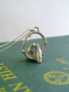 touchthedutch Love Birds Necklace in Sterling Silver   Sumally