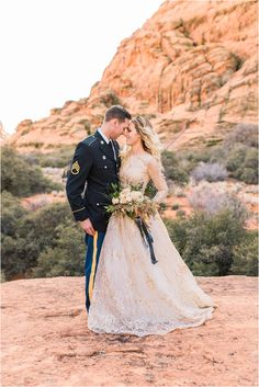 Snow Canyon | Ashley DeHart Photography | Utah Wedding Photographer | St. George Red Rocks | men in uniform, military, reserves