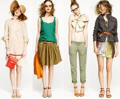don't care much for the bow on the third top, but that green blouse gets a definite pass!