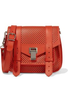 Proenza Schouler | The PS1 perforated leather satchel | NET-A-PORTER.COM