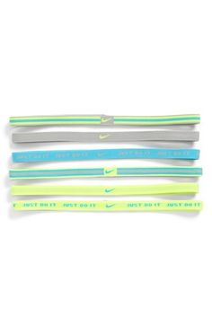 You can also keep your hair back with these cool athletic headbands. #run