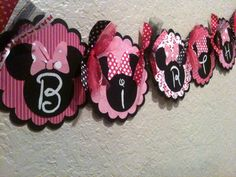 minnie mouse birthday party banner silhouette - Bing Images