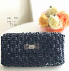 長財布が入るウォレットバッグ 糸の色を変えられるので、オリジナルバッグが作れます。 レッスン開講中❣️