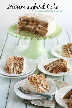 Hummingbird Cake ~ a banana and pineapple cake with cream cheese frosting, perfect for Easter or anytime!