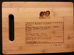 Custom cutting board for Lacey from 3DCarving on Etsy