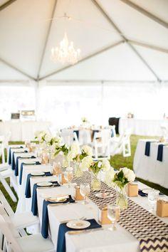 Modern Rustic Navy & White Farm Wedding