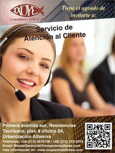 @IxoyeConsultore #atención #cliente TALLER SERVICIO DE ATENCIÓN AL CLIENTE * 18 de agosto del 2016 * Altamira Sur, Caracas  IXOYE CONSULTORES 1108, C.A.   * e-mail: Mastergerencial@isoyeconsultores.com   * + 58 (212) 267.5708 / (0414) 284.3628 * http://www.ixoyeconsultores.com * Twitter: @IxoyeConsultore #crm #caracas