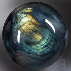 Labradorite Sphere by ArtByManon.deviantart.com on @deviantART