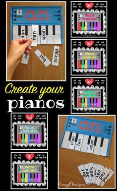 Grab these Word Families Pianos Bundle and get 1 resource for FREE! These…