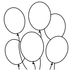 free+coloring+book+pages | 10 Balloons Coloring Pages